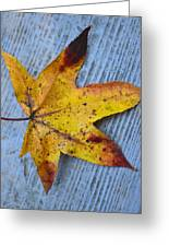Burnished Gold On Wood Greeting Card