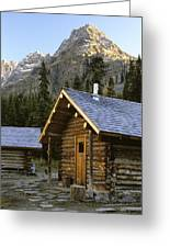 Cabin In Yoho National Park, Lake Greeting Card