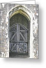 Caerphilly Castle Gate Greeting Card