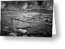 Canoe On The Thornapple River Greeting Card