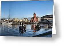 Cardiff Bay Panorama Greeting Card