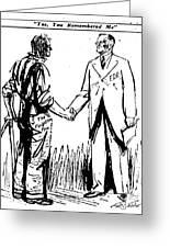 Cartoon: Fdr & Workingmen Greeting Card
