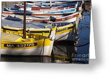 Cassis Boats Greeting Card