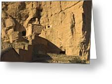 Cave Dwellings Greeting Card