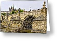 Charles Bridge And Prague Castle Greeting Card