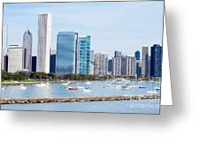 Chicago Skyline Lakefront Greeting Card by Paul Velgos