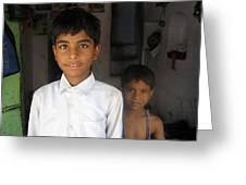 Children Of India Greeting Card