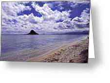 Chinaman S Hat From Kualoa Greeting Card