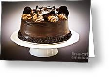 Chocolate Cake Greeting Card by Elena Elisseeva