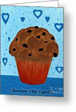 Chocolate Chip Cupcake Greeting Card