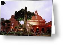 Christ Church In Melaka In Malaysia Greeting Card
