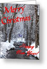 Christmas Along The Creek Greeting Card