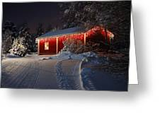 Christmas House  Greeting Card by Roman Rodionov