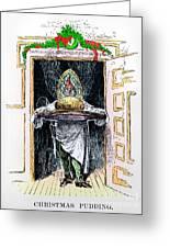 Christmas Pudding, 1882 Greeting Card
