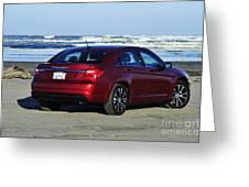 Chrysler At Beach Greeting Card