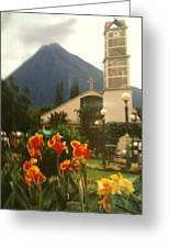Church Nestled In The Mountains Greeting Card