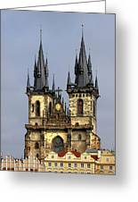 Church Of Our Lady Before Tyn - Prague Cz Greeting Card by Christine Till