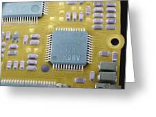 Circuit Board Microchip, Sem Greeting Card