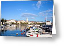 City Of Split In Croatia Greeting Card