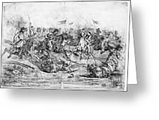 Civil War: Cavalry Charge Greeting Card