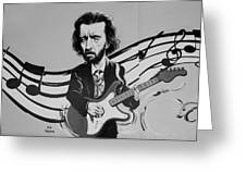Clapton In Black And White Greeting Card
