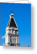 Clarksville Historic Courthouse Tower Greeting Card