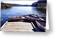 Clear Lake At Mckenzie Pass Greeting Card