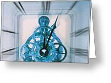 Clock Mechanism Greeting Card by Victor De Schwanberg