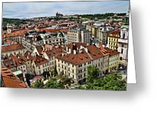 Clock Tower View - Prague Greeting Card
