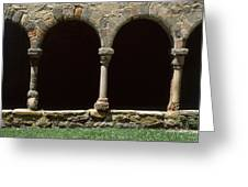 Cloister Of Lavaudieu. Haute Loire. Auvergne. France. Greeting Card