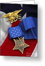 Close-up Of The Medal Of Honor Award Greeting Card