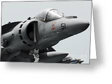 Close-up View Of An Av-8b Harrier II Greeting Card