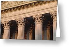 Closeup Of The U.s. Supreme Court Greeting Card