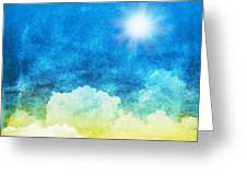 Cloud And Sky Greeting Card