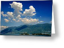 Clouds And Mountain Greeting Card