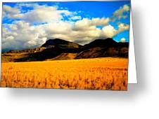 Clouds In The Mountains Greeting Card