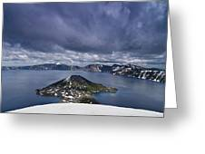 Clouds Over Crater Lake Greeting Card