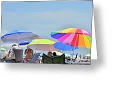 Coast Guard Beach Umbrellas Greeting Card