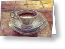 Coffee Cup Still Life Painting Greeting Card