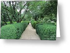 Colonial Garden Path Greeting Card