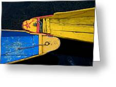 Colorful Boats, Srinagar, Dal Lake Greeting Card