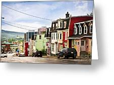 Colorful Houses In Newfoundland Greeting Card
