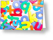 Colorful Letters Greeting Card