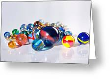 Colorful Marbles Greeting Card