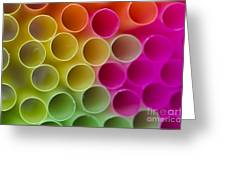 Colorful Straws Greeting Card