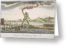 Colossus Of Rhodes Greeting Card by Granger