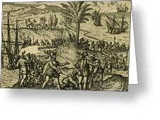 Columbus Arrested Greeting Card