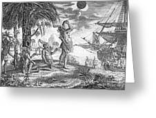 Columbus: Jamaica, 1504 Greeting Card