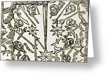Comet, 1665 Greeting Card