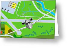 Commercial Jet Plane Greeting Card